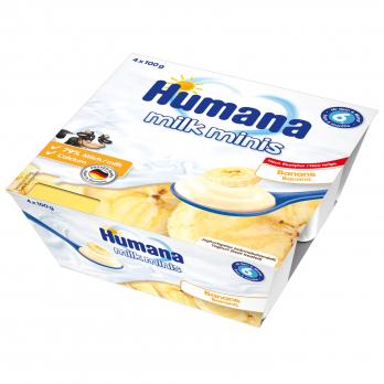 Йогурт Humana с бананом, 4 x 100 г