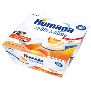 Йогурт Humana с персиком, 4 x 100 г