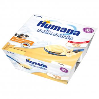 Пудинг Humana ванильный, 4 x 100 г