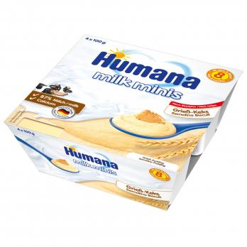 Пудинг Humana манний з печивом, 4 x 100 г