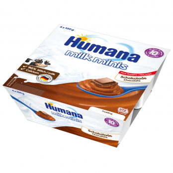 Пудинг Humana шоколадный, 4 x 100 г