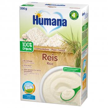 Каша Humana безмолочна органічна рисова, 200 г